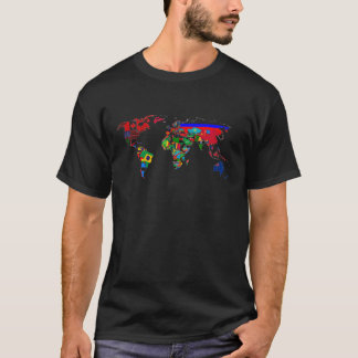 World Map of Nations Flags T-Shirt Awesome!