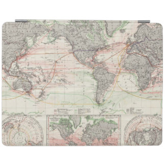 World Map of Ocean Currents iPad Cover