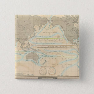 World Map of the Climate 15 Cm Square Badge