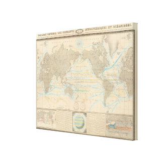 World Map of the Climate Canvas Print