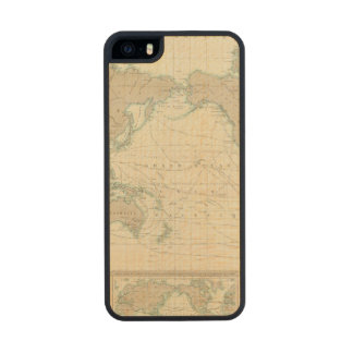 World Map of the Shipping Canals Carved® Maple iPhone 5 Slim Case