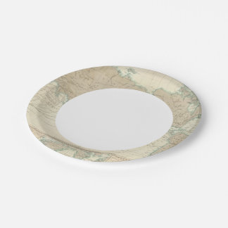 World Map of the Shipping Canals Paper Plate