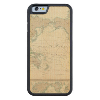 World Map of the Shipping Canals Carved® Maple iPhone 6 Bumper Case