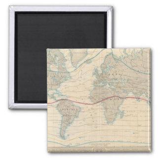 World Map of the Vegetation Square Magnet