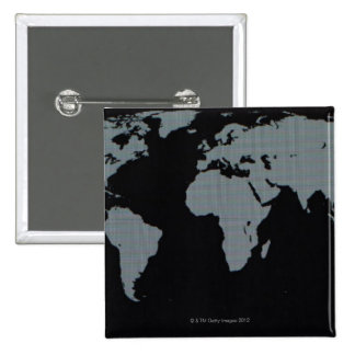 World Map on Computer Monitor 15 Cm Square Badge