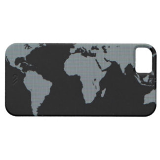 World Map on Computer Monitor Barely There iPhone 5 Case