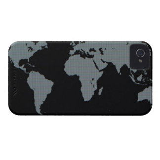 World Map on Computer Monitor iPhone 4 Cover