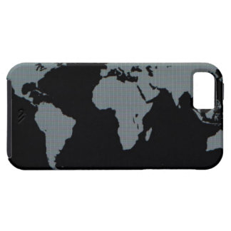 World Map on Computer Monitor iPhone 5 Covers