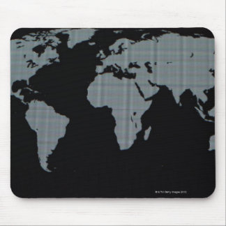 World Map on Computer Monitor Mouse Mat