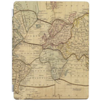 World map on Mercators Projection iPad Cover