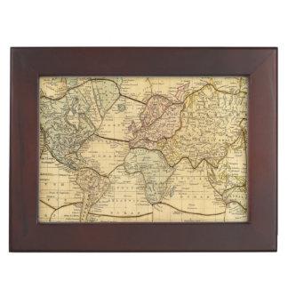 World map on Mercators Projection Keepsake Box