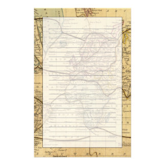 World map on Mercators Projection Stationery