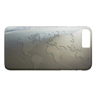 World map on sand iPhone 8 plus/7 plus case