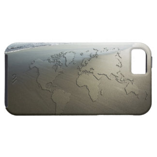 World map on sand tough iPhone 5 case