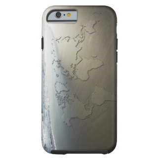 World map on sand tough iPhone 6 case