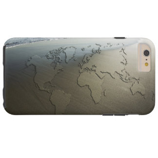 World map on sand tough iPhone 6 plus case