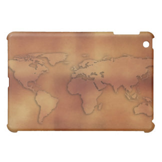 World map on textured background case for the iPad mini