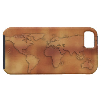 World map on textured background case for the iPhone 5