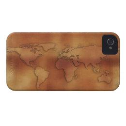World map background iphone 4 cases zazzle uk world map on textured background case mate iphone 4 case gumiabroncs Choice Image