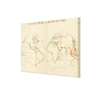 World map canvas prints wall art zazzle world map outline 2 canvas print publicscrutiny Images