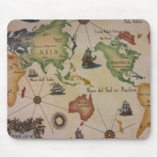 World Map Pacific Mouse Pad