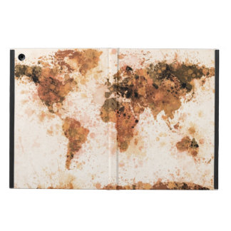 World Map Paint Splashes Bronze iPad Air Case