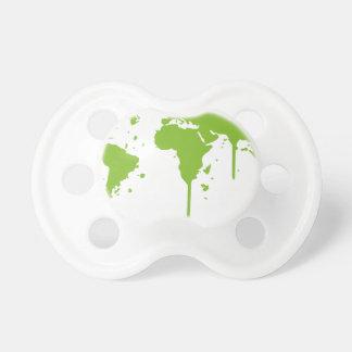 World Map Painted Green Graffiti Dummy