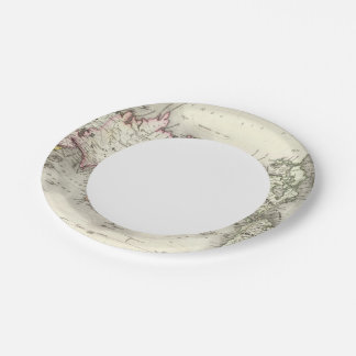 World Map Paper Plate