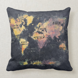world map pillow