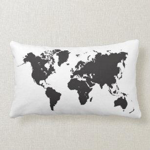 World map cushions decorative throw cushions zazzle uk world map pillow gumiabroncs Images