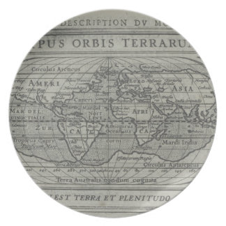 World Map Plate