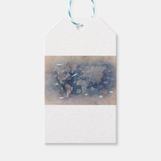 world map sealife gift tags