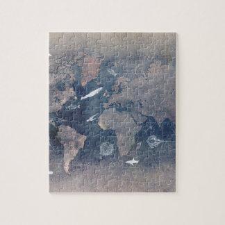 world map sealife jigsaw puzzle