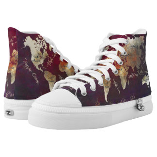 world map shoes