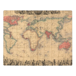 World Map showing British Empire Jigsaw Puzzle