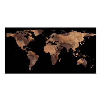 World Map Silhouette - Cookie Poster
