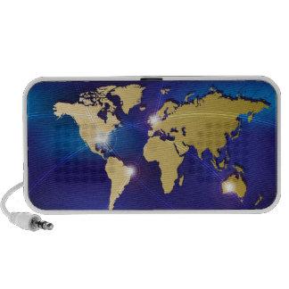 World Map Mini Speakers