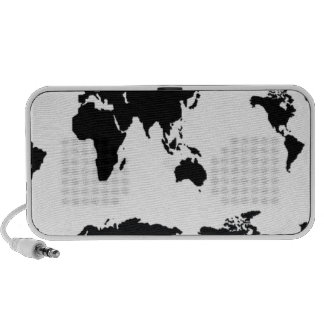 World map travelling speakers