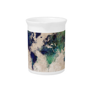 world map splash pitcher