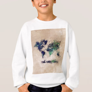 world map splash sweatshirt