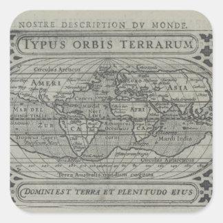 World Map Square Sticker