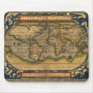 World map Theatrum Orbis Ancient Travel Mouse Pad