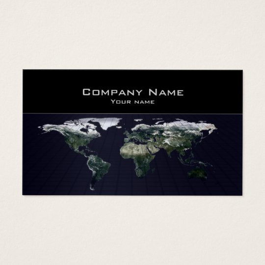 World Map Travel Agency Business Card