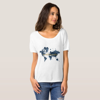 World Map Travel Quote T-Shirt