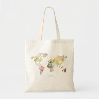 World Map Travel Tote Budget Tote Bag