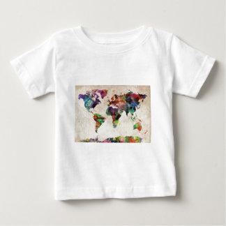 World Map Urban Watercolor Baby T-Shirt