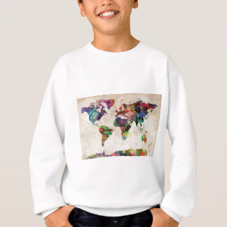 World Map Urban Watercolor Sweatshirt