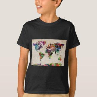 World Map Urban Watercolor T-Shirt