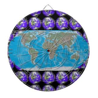World Map Vacation Destination Dartboard