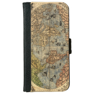 World Map Vintage Atlas Historical Continents iPhone 6 Wallet Case